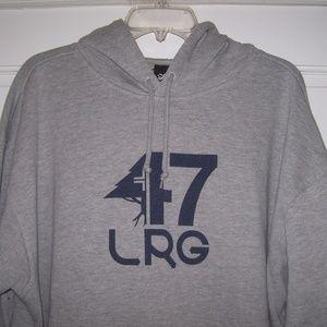 "Lrg Shirts - LRG Gray ""Tree"" Logo HOODIE *Kangaroo Pocket*"